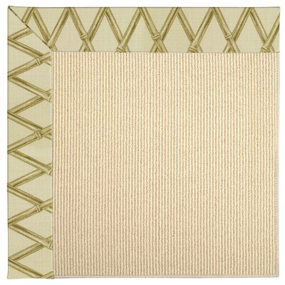 Zoe Machine Tufted Bamboo/Brown Indoor/Outdoor Area Rug Rug Size: Round 12 x 12