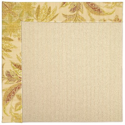 Zoe Machine Tufted Tan/Beige Indoor/Outdoor Area Rug Rug Size: Square 10