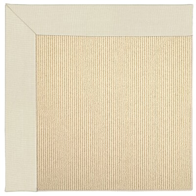 Zoe Machine Tufted Sandy/Beige Indoor/Outdoor Area Rug Rug Size: Round 12 x 12
