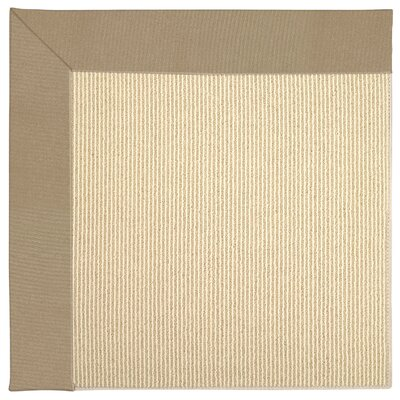 Zoe Machine Tufted Biscuit/Beige Indoor/Outdoor Area Rug Rug Size: Round 12 x 12