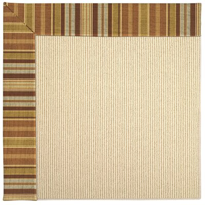 Zoe Machine Tufted Button Mushroom/Beige Indoor/Outdoor Area Rug Rug Size: Rectangle 7' x 9'