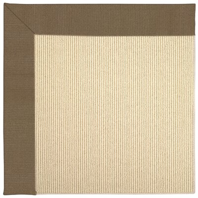 Zoe Machine Tufted Cafe/Beige Indoor/Outdoor Area Rug Rug Size: Square 4'