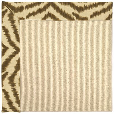 Zoe Machine Tufted Tawny/Brown Indoor/Outdoor Area Rug Rug Size: Square 4