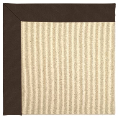 Zoe Machine Tufted Brown/Beige Indoor/Outdoor Area Rug Rug Size: Square 8