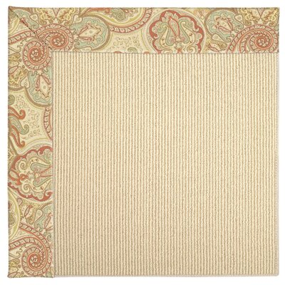 Zoe Machine Tufted Auburn Indoor/Outdoor Area Rug Rug Size: Square 10