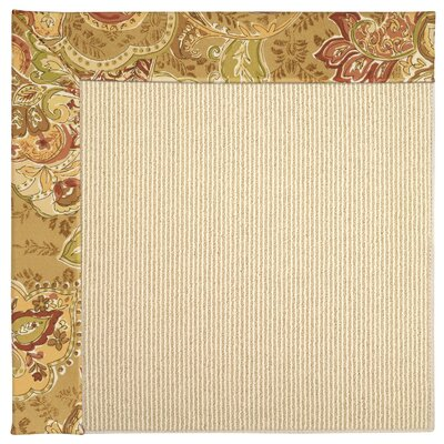 Zoe Machine Tufted Bronze Flowers Indoor/Outdoor Area Rug Rug Size: Round 12 x 12