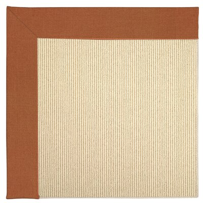 Zoe Machine Tufted Russett/Beige Indoor/Outdoor Area Rug Rug Size: Round 12 x 12