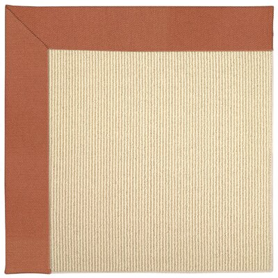 Zoe Machine Tufted Clay/Beige Indoor/Outdoor Area Rug Rug Size: Square 4