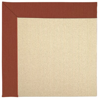 Zoe Machine Tufted Strawberry/Beige Indoor/Outdoor Area Rug Rug Size: Square 6