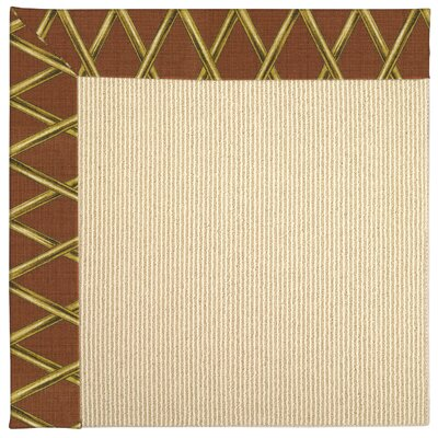 Zoe Machine Tufted Cinnabar Honey/Beige Indoor/Outdoor Area Rug Rug Size: Square 4'