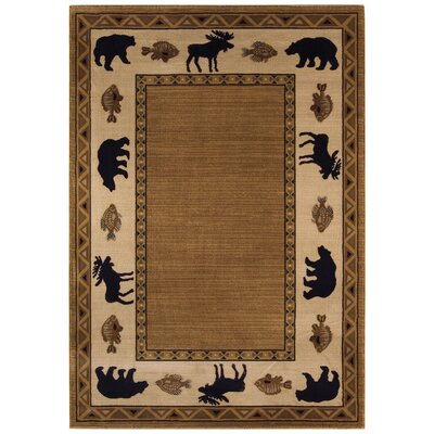 Cottage Grove Medium Brown Novelty Rug Rug Size: 710 x 1010