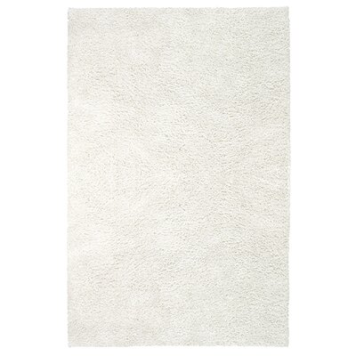 Elation White Area Rug Rug Size: Rectangle 7 x 9