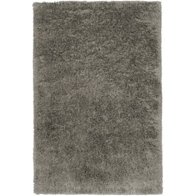 Trolley Line Grey Area Rug Rug Size: 7 x 9