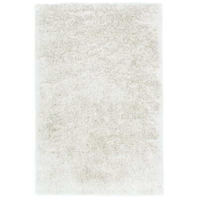 Trolley Line Vanilla White Area Rug Rug Size: Rectangle 7 x 9