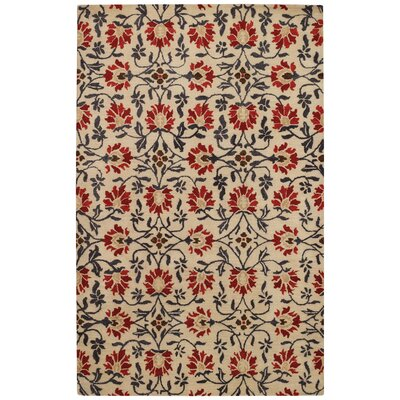 Rosana Rouge Floral Area Rug Rug Size: Rectangle 4 x 6