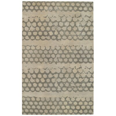 Bee Hives Grey Area Rug Rug Size: Rectangle 4 x 6