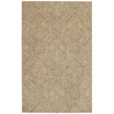 Flower Garden Taupe Area Rug Rug Size: Rectangle 5 x 8