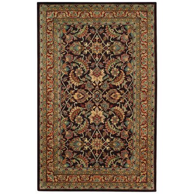 Piedmont Espresso Keshan Dark Red Area Rug Rug Size: Rectangle 8 x 11