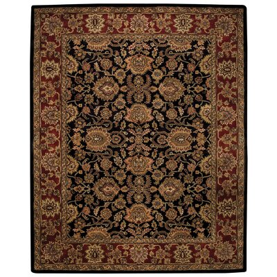 Woodland Black/Red Area Rug Rug Size: 7 x 9