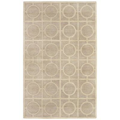 Morgan Hill Tan Rings Trellis Rug Rug Size: 5 x 8