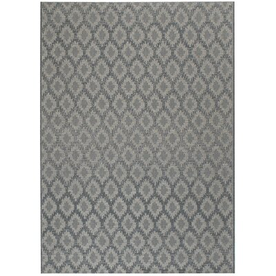 Udorn Blue Diamond Indoor/Outdoor Area Rug Rug Size: 53 x 76