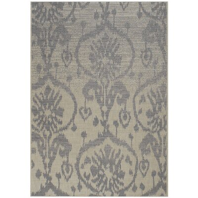 Udorn Blue Sunburst Indoor/Outdoor Area Rug Rug Size: 53 x 76
