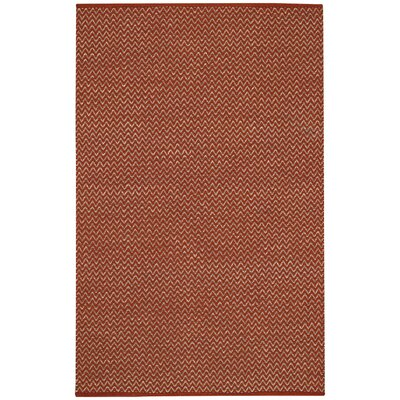 Sahara Clay Chevron Area Rug Rug Size: Runner 26 x 8