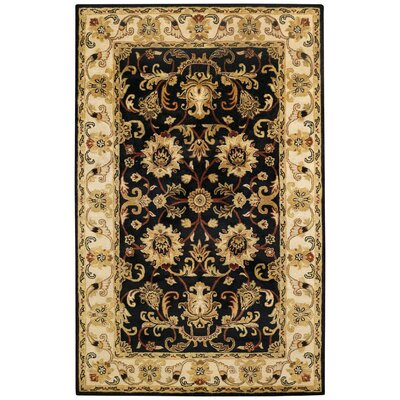 Guilded Onyx Black Area Rug Rug Size: 5 x 8
