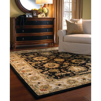 Guilded Onyx Black Area Rug Rug Size: 4 x 6