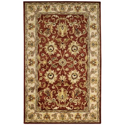Guilded Hand-Tufted Red Area Rug Rug Size: 10 x 14