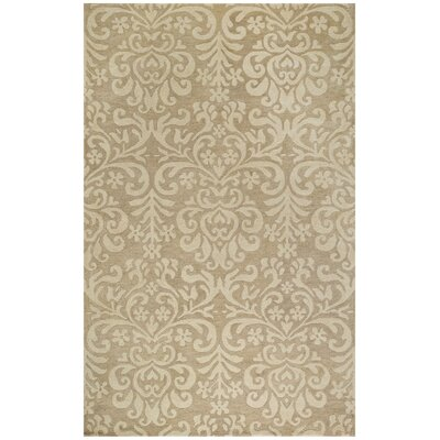 Lace Cream Area Rug Rug Size: Round 86