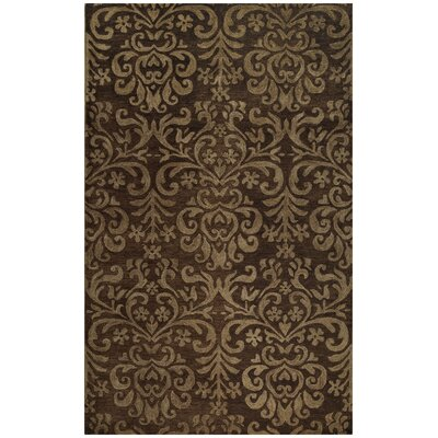 Lace Brown Area Rug Rug Size: Round 86
