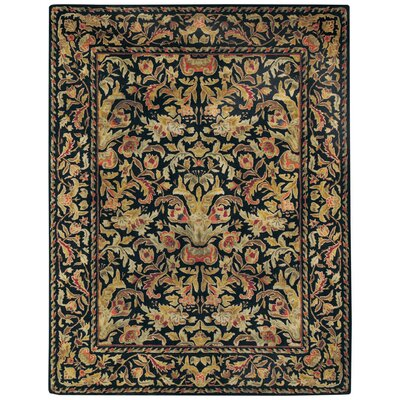 Garden Farms Black Floral Area Rug Rug Size: Rectangle 86