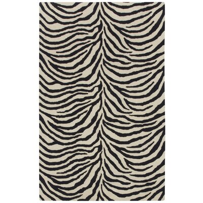 Expedition Black/White Zebra Area Rug Rug Size: Rectangle 7 x 9