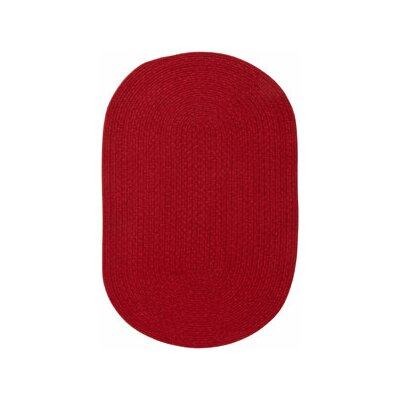 Matthias Dark Red Area Rug Rug Size: Oval 18 x 26