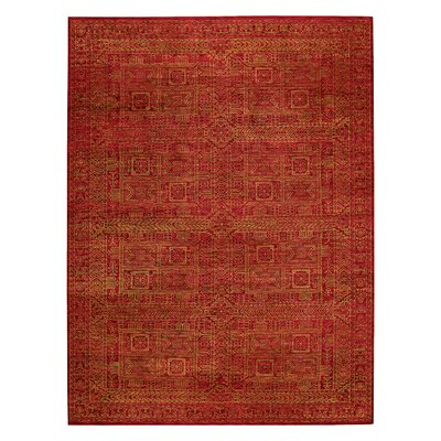 Tonal Trace Red Area Rug Rug Size: 56 x 86