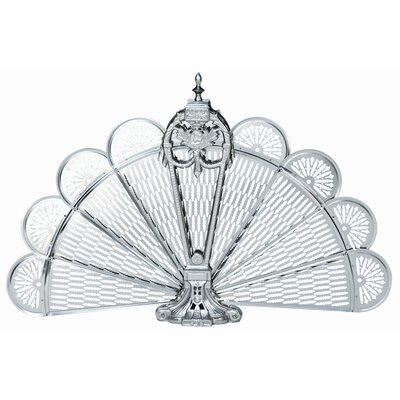 Rent to own Pewter Ornate Fan Fireplace Screen...