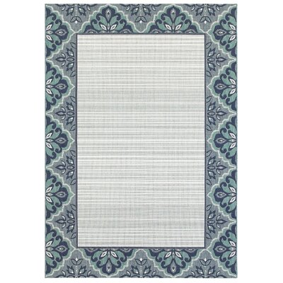Muskegon Blue Indoor/Outdoor Area Rug Rug Size: 53 x 74