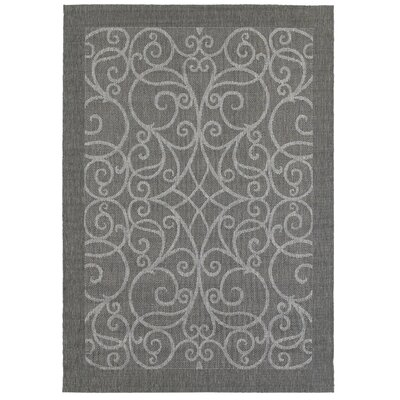 Charleston Gray Indoor/Outdoor Area Rug Rug Size: 53 x 74