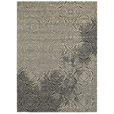 Frederick Gray/Beige Area Rug Rug Size: 53 x 74