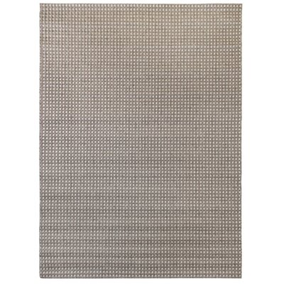 Beige/Dark Brown Indoor/Outdoor Area Rug Rug Size: 53 x 74