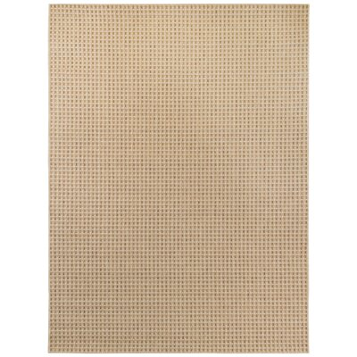 Carlisle Beige Indoor/Outdoor Area Rug Rug Size: 53 x 74