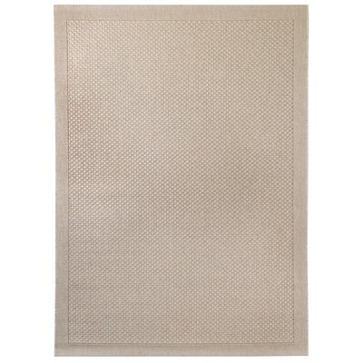 Light Brown Indoor/Outdoor Area Rug Rug Size: 53 x 74