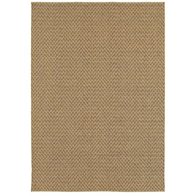 Montgomery Golden Wheat Indoor/Outdoor Area Rug Rug Size: 53 x 74