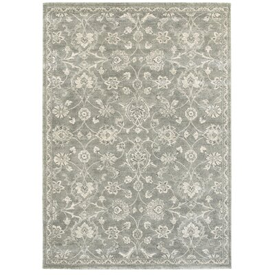Holliston Gray Area Rug Rug Size: 53 x 74