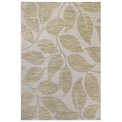 Garica Green/Gray Indoor/Outdoor Area Rug Rug Size: 53 x 74