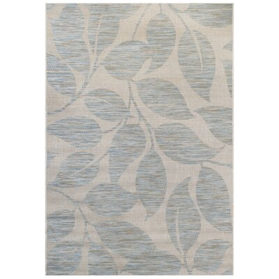 Blue/Gray Indoor/Outdoor Area Rug Rug Size: 53 x 74