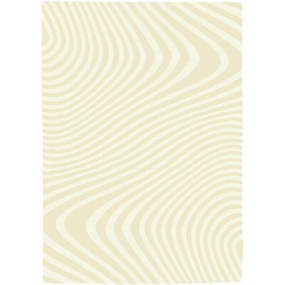 Rochester Cream Area Rug Rug Size: 53 x 74