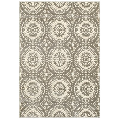 Chesterfield Gray Area Rug Rug Size: 53 x 74
