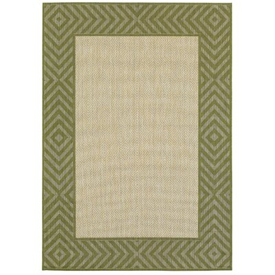 Denning Golden Wheat Indoor/Outdoor Area Rug Rug Size: 53 x 74